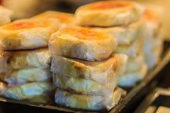Księżyc tort lub Chiński antyczny deser dzwoniliśmy 'Pia', antyczny desser obraz royalty free