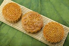 Księżyc tort tradycyjny tort wietnamczyk - Chiński w połowie jesień festiwalu jedzenie Zdjęcia Royalty Free