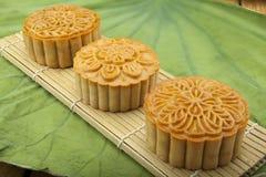Księżyc tort Wietnamski Chiński w połowie jesień festiwalu jedzenie Obraz Royalty Free