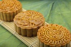 Księżyc tortowy tradycyjny tort wietnamczyk - Chiński w połowie jesień festiwalu jedzenie Zdjęcie Stock