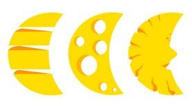 Księżyc trzy Fotografia Stock