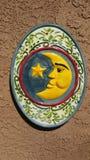 Księżyc twarzy płytka Obrazy Royalty Free