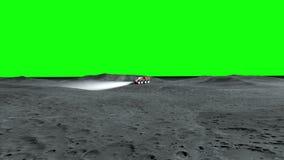 Księżyc włóczęga na księżyc astronautyczna wyprawa Zielony parawanowy materiał filmowy ilustracja wektor