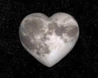 Księżyc w formie serca Zdjęcie Royalty Free