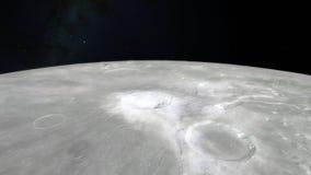Księżyc w kosmosie, powierzchnia Ten wizerunku elementy meblujący NASA zdjęcie royalty free