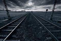 księżyc w pełni śladu pociąg Zdjęcia Stock