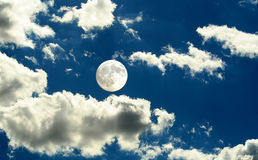 Księżyc w pełni dzień Zdjęcia Royalty Free