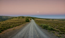 Księżyc w pełni krajobraz Zdjęcie Royalty Free