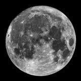 Księżyc w pełni w nocnym niebie obraz stock