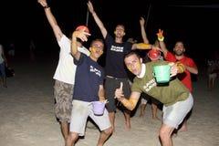 księżyc w pełni partyjny phangan Thailand Zdjęcia Royalty Free