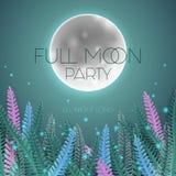 Księżyc w pełni partyjny plakat ilustracji