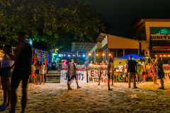 Księżyc w pełni przyjęcie przy Koh Phangan Zdjęcia Royalty Free