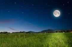 Księżyc w pełni tło Fotografia Stock