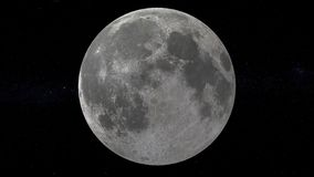 Księżyc w pełni tło z gwiazdowym niebem ilustracja wektor