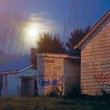 Księżyc w pełni ulica Obraz Royalty Free