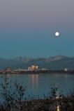 Księżyc w pełni w Zakotwienie zdjęcia stock
