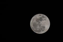 Księżyc w pełni w zmroku Fotografia Royalty Free