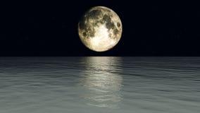 księżyc woda Fotografia Stock