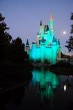 Księżyc wydźwignięcie na Cinderellas kasztelu fotografia stock