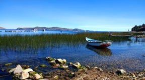 Księżyc wyspa, Jeziorny Titicaca Boliwia zdjęcie stock