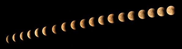Księżyc zaćmienie Zdjęcia Royalty Free