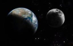 księżyc ziemi Obrazy Royalty Free