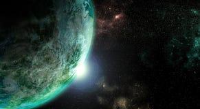 księżyc ziemi w tle kosmosu Obrazy Stock