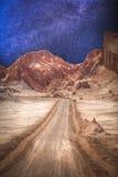 Księżycowa dolina w Atacama pustyni Zdjęcia Royalty Free