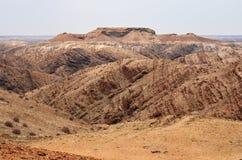 Księżycowy krajobraz, Namibia Obrazy Royalty Free