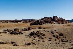 Księżycowy krajobraz Teide park narodowy obraz stock