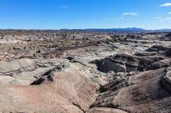 Księżycowy krajobraz w Ischigualasto parku narodowym, Argentyna Fotografia Royalty Free