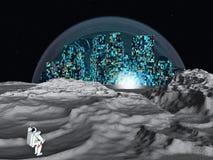 Księżycowy miasto ilustracji