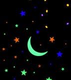 księżycu, gwiazdach Obrazy Stock
