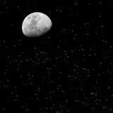 księżycu, gwiazdach Obrazy Royalty Free