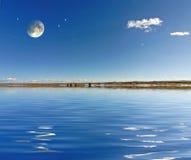 księżycu, gwiazdach Obraz Stock