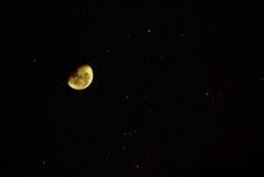 księżycu, gwiazdach Zdjęcia Stock