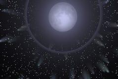 księżycu, gwiazdach royalty ilustracja