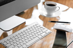 księgowości biznesowy pojęcia biurka biuro Obraz Stock