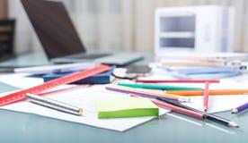 księgowości biznesowy pojęcia biurka biuro Obrazy Royalty Free