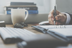 Księgowości pracy notatnika Biznesowy pojęcie Zdjęcia Stock