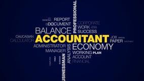 Księgowy gospodarki równowagi konsultanta budżeta fachowa biurowa papierkowa robota opodatkowywa biznesmena księgowość animująceg ilustracji