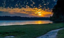 Księdza punkt, olimpia Waszyngton na Puget Sound zdjęcie royalty free