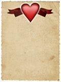 księga banner serca Obraz Royalty Free