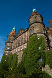 Ksiaz Castle in autumn Royalty Free Stock Images