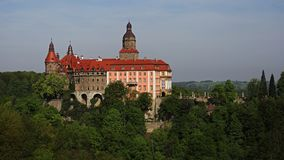 Ksiaz castle near Walbrzych, Poland. Ksiaz castle is the largest castle in Silesia region near city of Walbrzych, Poland royalty free stock images