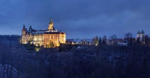 Ksiaz castle panorama Stock Images