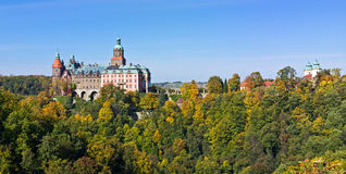 Ksiaz castle in Poland Royalty Free Stock Images
