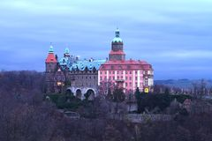 Ksiaz castle Stock Photo
