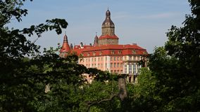 Ksiaz grodowy pobliski Wałbrzyski, Polska Fotografia Stock