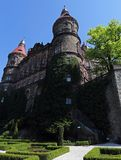 Ksiaz grodowy pobliski Wałbrzyski, Polska Obrazy Royalty Free